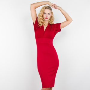 Louise vintage dress red